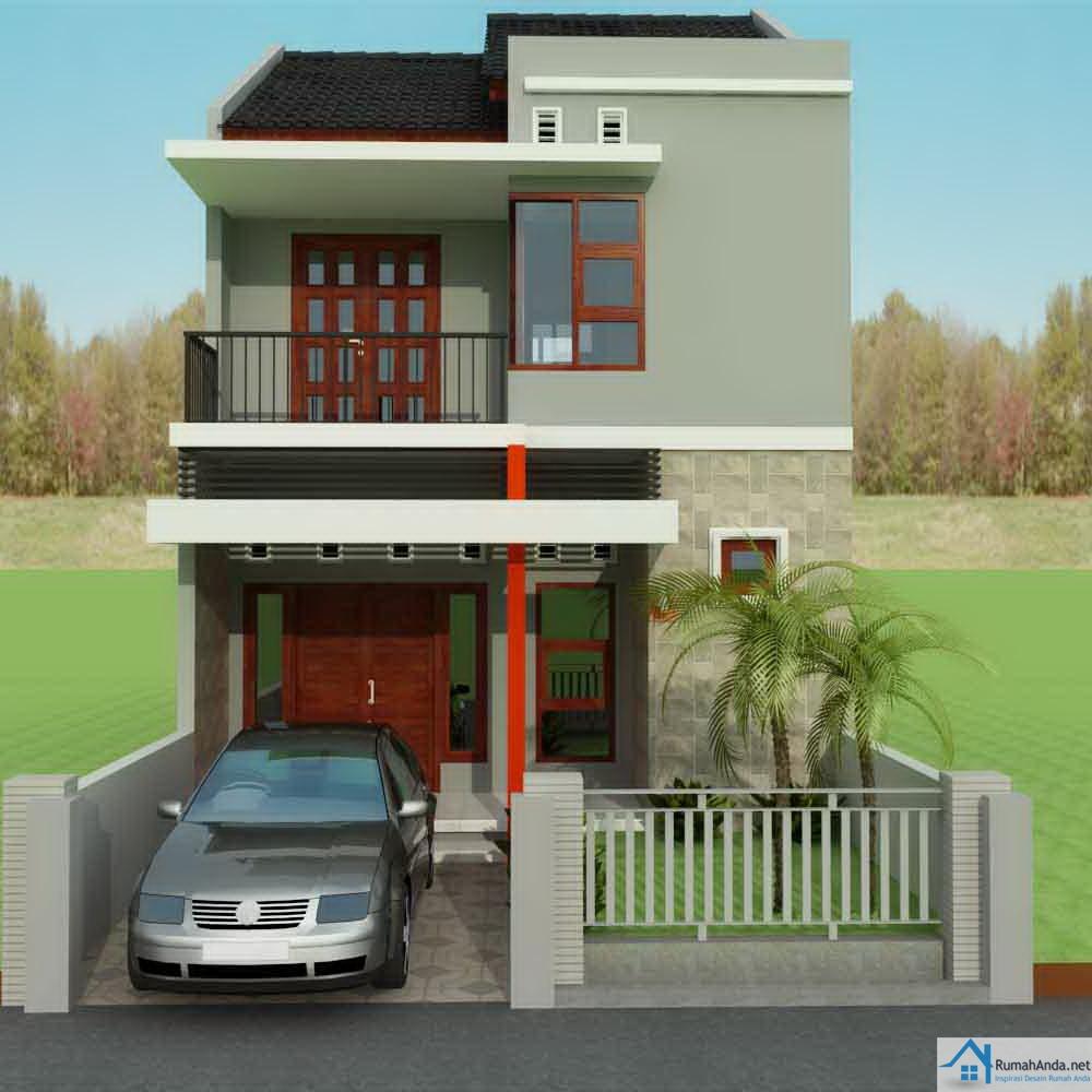 Denah Rumah Minimalis 2 Lantai Type 21 | Desain Rumah ...