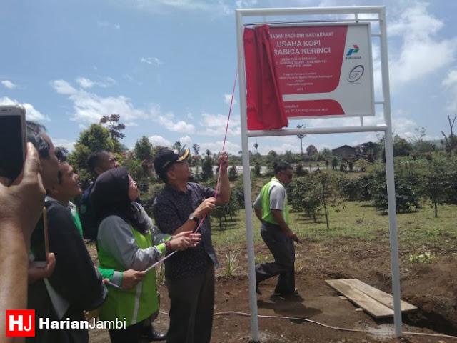 Kerjasama Pertamina dan Flipmas, Bupati Kerinci Resmikan KEM di Desa Telun Berasap