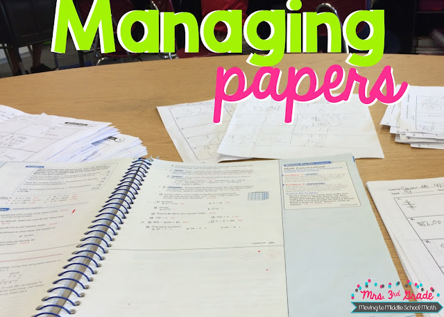 Managing papers is something that we struggle with, and something that we need to make sure that we take care of so we can organize our classrooms.