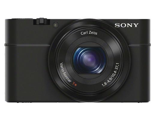 La Sony Cyber-shot DCS RX100 fotografata di fronte