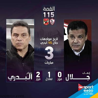 الدوري المصري القمة 115ملخص نتيجة الاهلي والزمالك  دقيقة بدقيقة والاهلى ويتربع على صدار الدورى