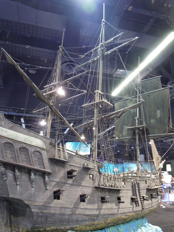 Black Pearl pirate ship miniature