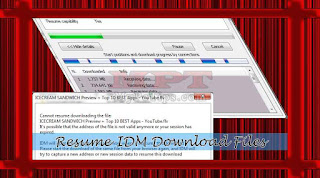 Resume IDM Download Files