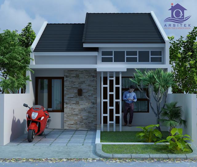 Desain Eksterior Rumah Bapak Hendra di Kediri