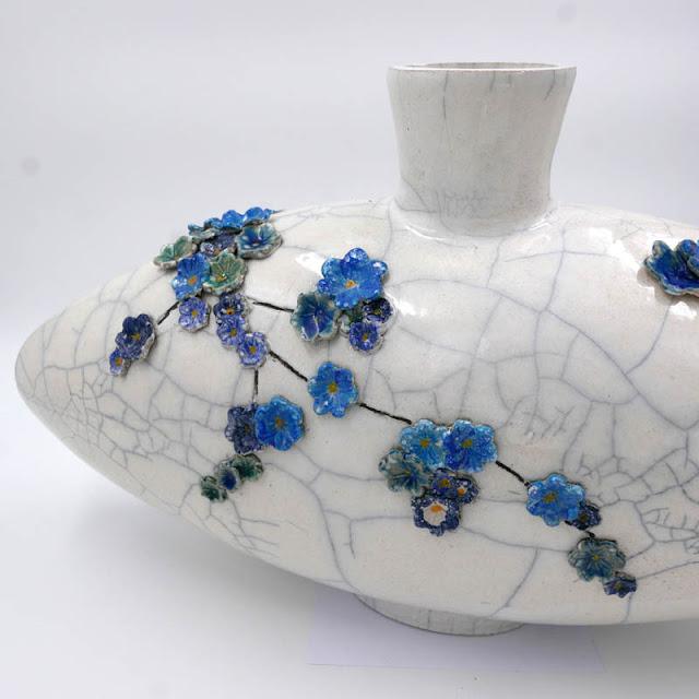 Poterie d'art, vase céramique d'art