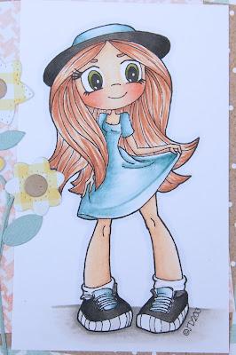 Heather's Hobbie Haven - Color Wednesday - Cute Girl