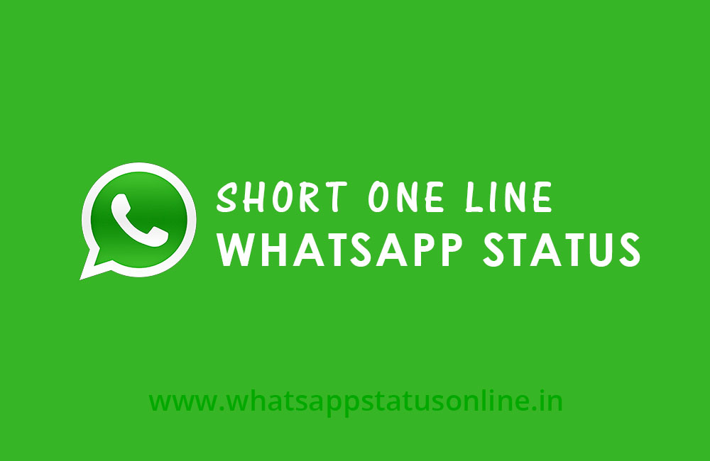 Short One Line Whatsapp Status And Quotes