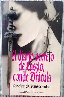 Portada del libro El diario secreto de Laszlo, conde Drácula, de Roderick Anscombe