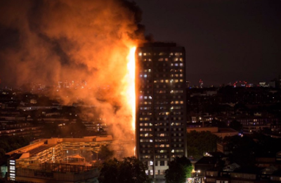 Breaking: Huge fire engulfs 24-story apartment block in West London