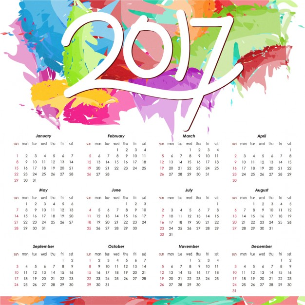 color full calendar images 2017