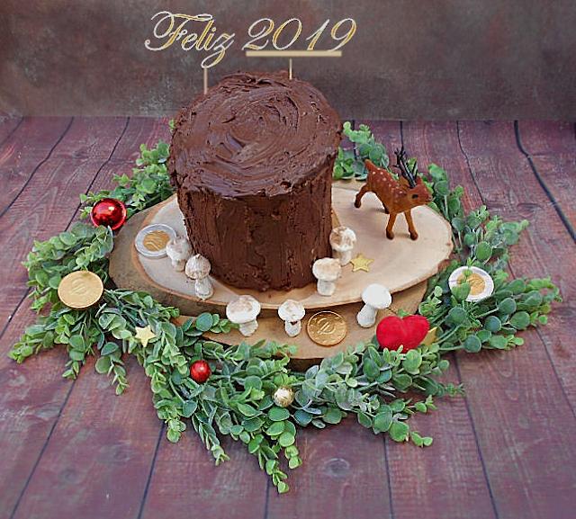 tronco de chocolate em espiral