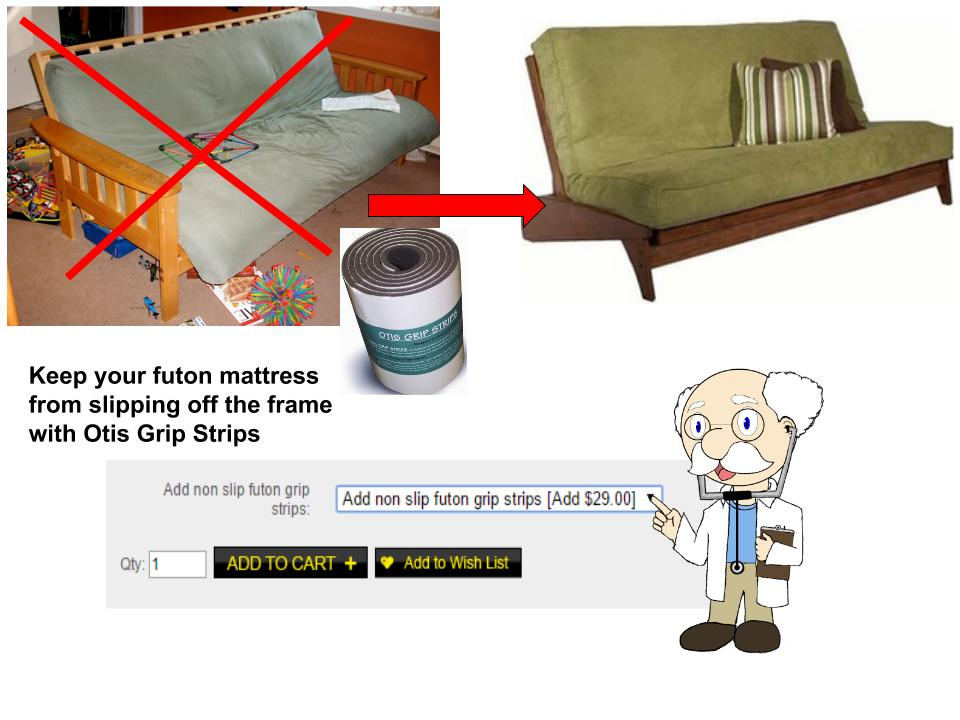Keep Your Futon Mattress In Place With Non Slip Grip Strips For Frame