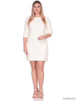 vestidos blancos pegados