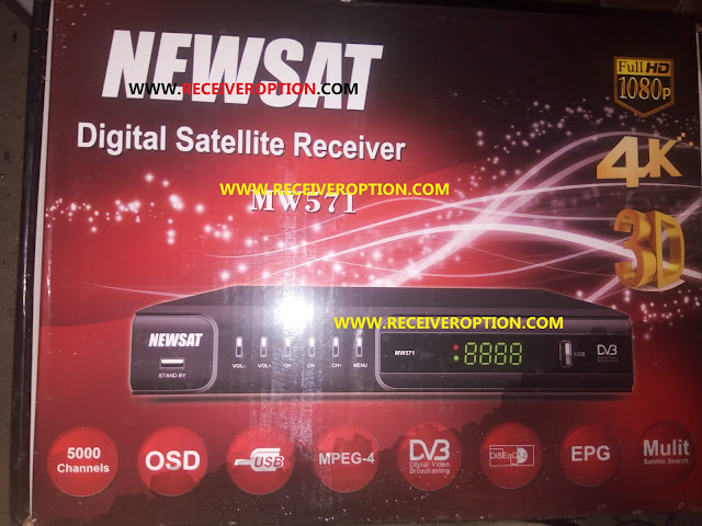 NEWSAT MW571 HD RECEIVER AUTO ROLL POWERVU KEY NEW SOFTWARE