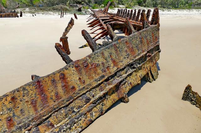 Bulwer Wrecks Schiff-Wrack Strand Gerippe Moreton Island Rost verrostet