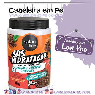 Máscara SOS Hidratação Cachos & Crespos Liberada - Salon Line
