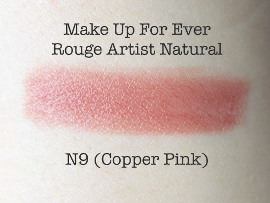 Make Up For Ever Rouge Artst N9 Swatch