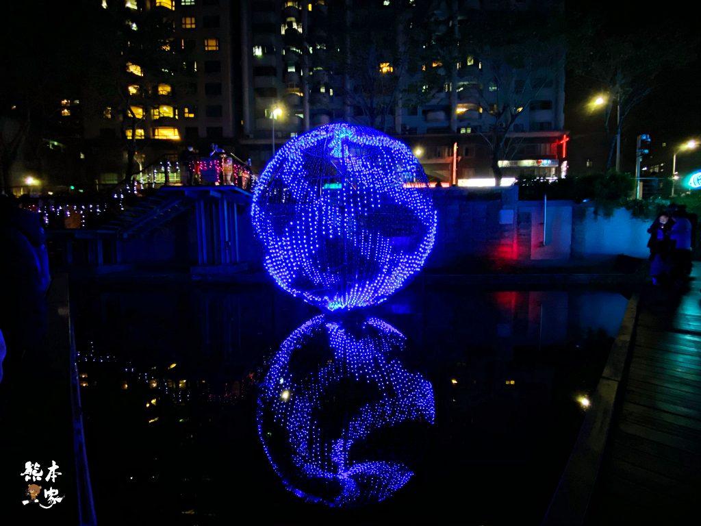 新莊中港大排燈會光雕秀(中港廣場)近台北捷運環狀線幸福站