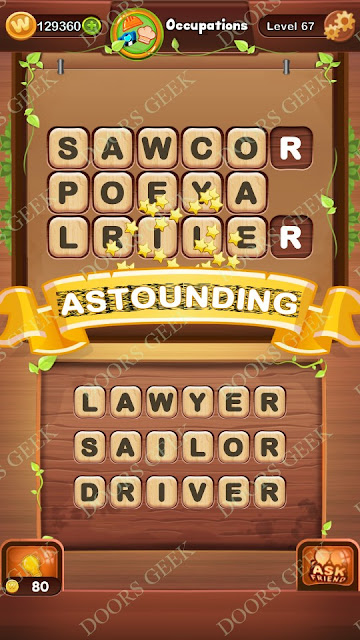 Word Bright Level 67 Answers, Cheats, Solutions, Walkthrough for android, iphone, ipad and ipod