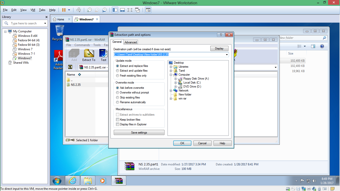 ns2 windows 7