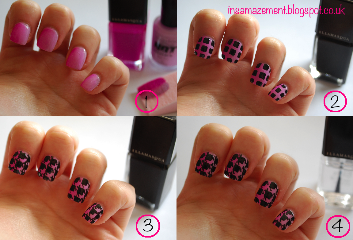 In SAMazement: Ombre Dogtooth Nail Art Tutorial