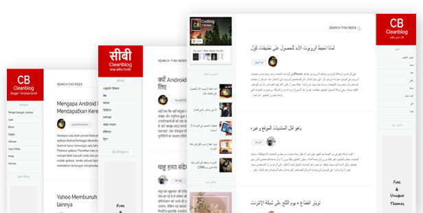 RTL and All language support blogger templates