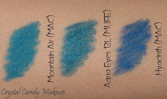 Eye liner Pro Longwear Mountain Air de MAC (Collection Après Chic) - MAC Hyacinth, MUFE 12L Aqua Eyes