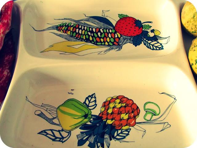 Vintage harvest dish
