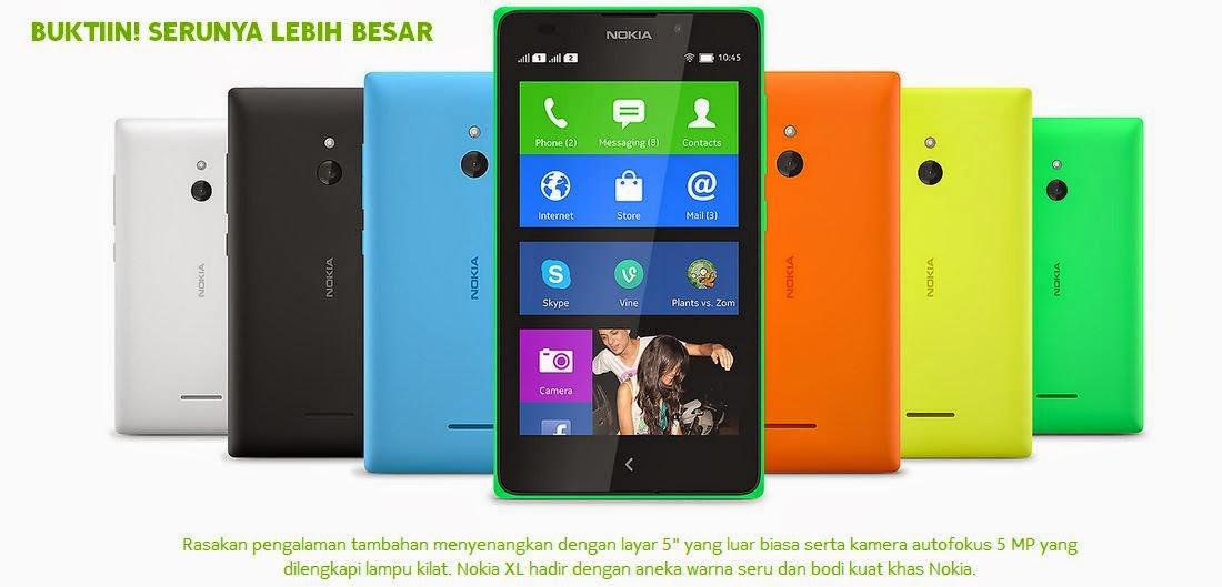 Fitur dan Spesifikasi Nokia XL