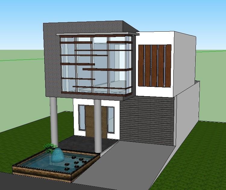 Jasa Desain Bangunan Rumah: Gambar Rumah Modern Minimalis 6 X 15 M2 Siap Pakai