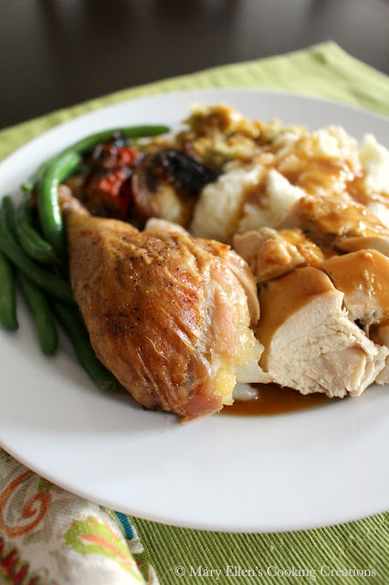 Whole Roast Chicken Dinner - Brined, Stuffed and Rubbed for Ultimate Flavor and Juiciness. Perfect Sunday Dinner. Great for Entertaining.