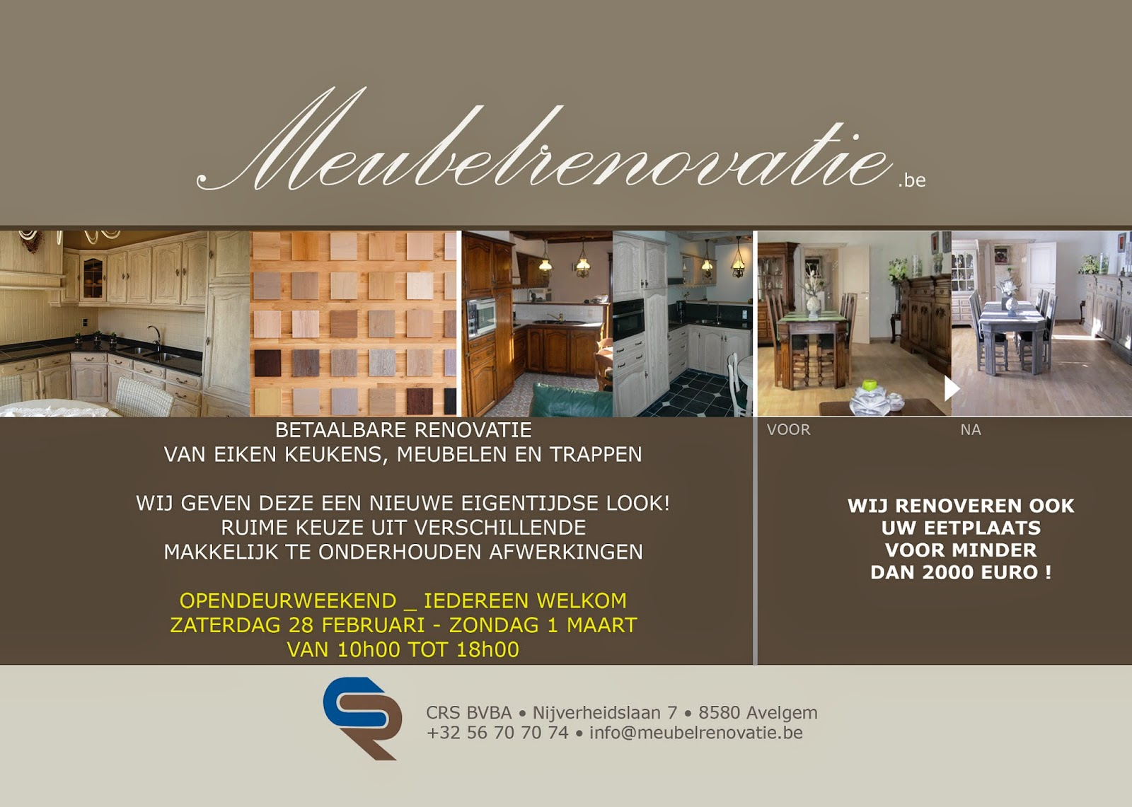 Meubelrenovatie.be opendeurdagen