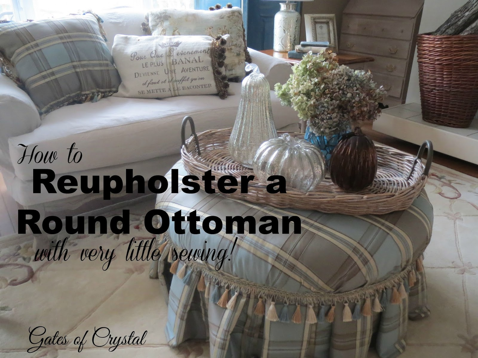 how much fabric do i need to recover a sofa sfx sweet gates of crystal reupholstering round ottoman with