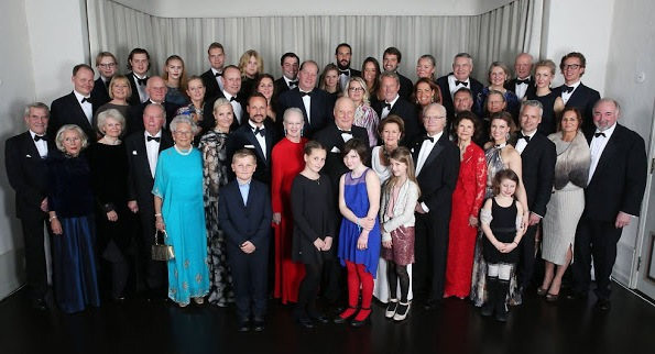 Royal Family Of Norway And Their Guests On A Photo