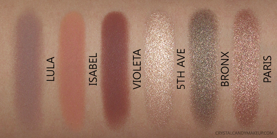 Anastasia Beverly Hills ABH Master Palette by Mario Eyeshadows Swatches Lula Isabel Violeta 5th Ave Bronx Paris