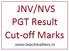 image : NVS PGT Result & Cut-off Marks @ TeachMatters