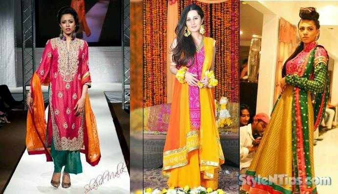 3364235e4d8e Fashion and stylles  Mehndi Dresses 2014 For Pakistani Stylish Girls