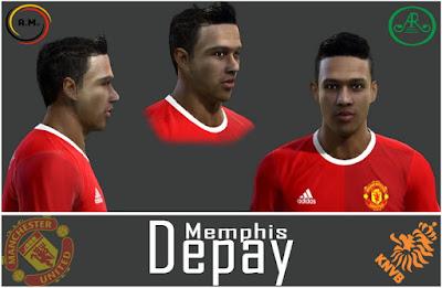 Pes 2013 Memphis Depay face by Alireza11