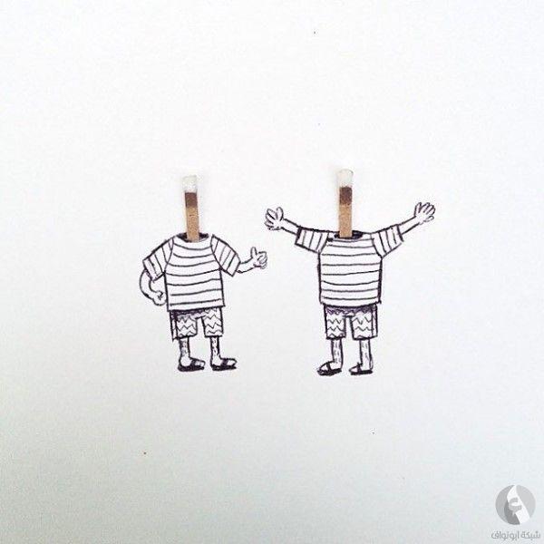 رسم السجينين - ابتكارات غريبة وأفكار عجيبة يمكنك فعل مثلها