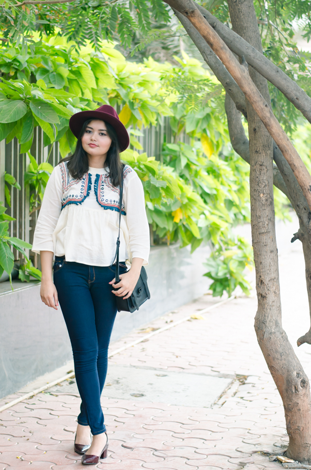 Bohemian dreaming festival inspired peplum blouse outfit
