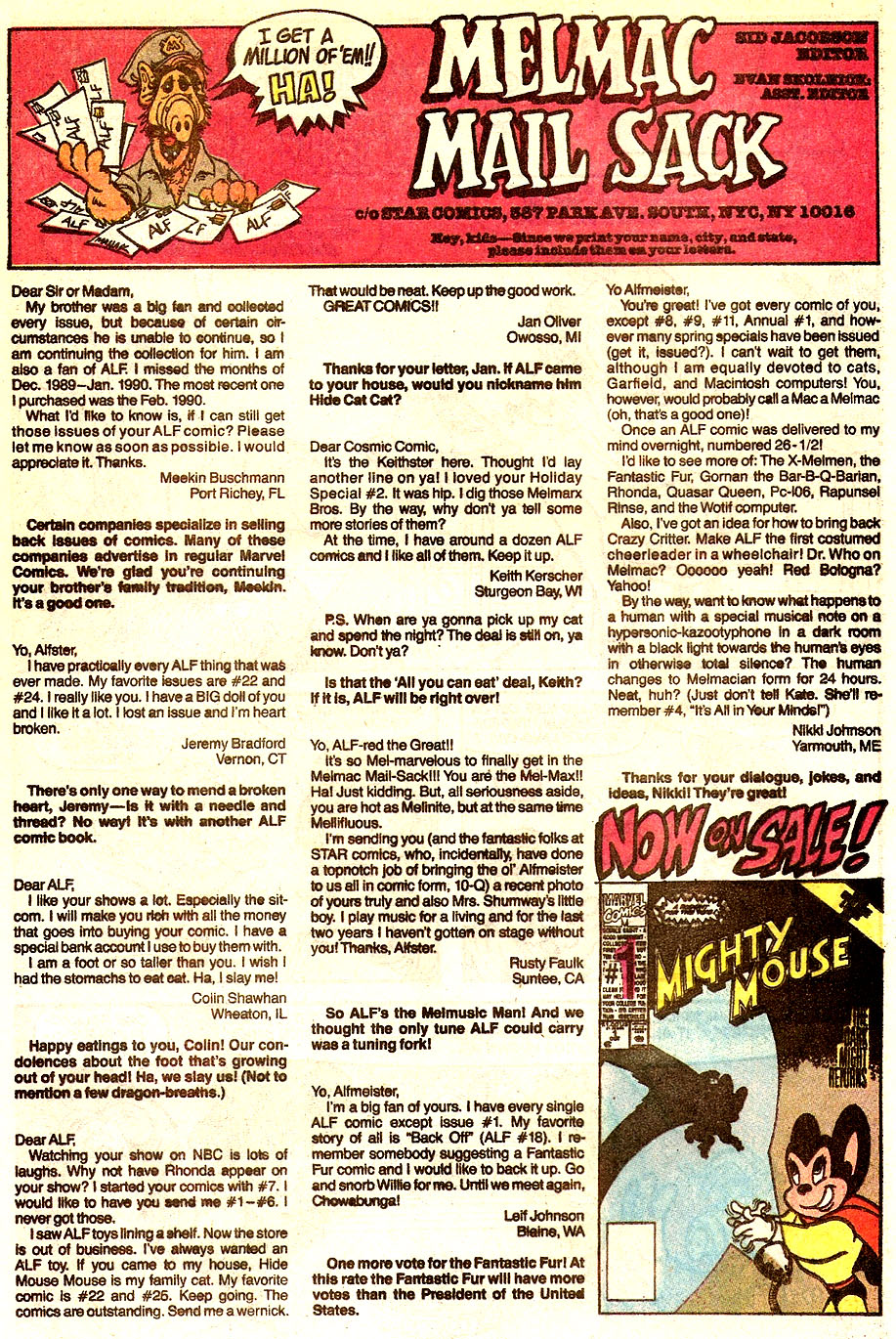 Read online ALF comic -  Issue #34 - 29