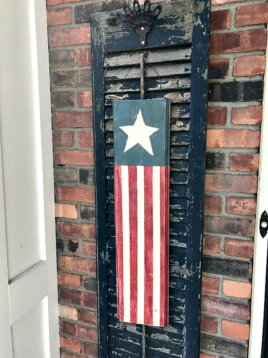 american flag wooden diy project