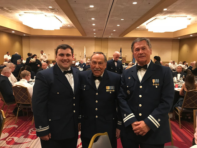 Flotilla 16-07 members (left to right) Christopher Orlando, William Castagno and Basil Iwanyk, dressed in their dinner dress blue uniforms, attended District Awards Meeting in Reading, PA.