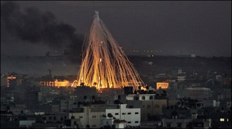 White phosphorus used as weapons in Gaza by israel