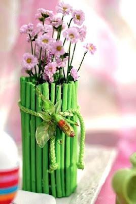 Оригинальная декоративная ваза для цветов своими руками