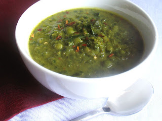 Creamy Green Pea and Collard Greens Soup