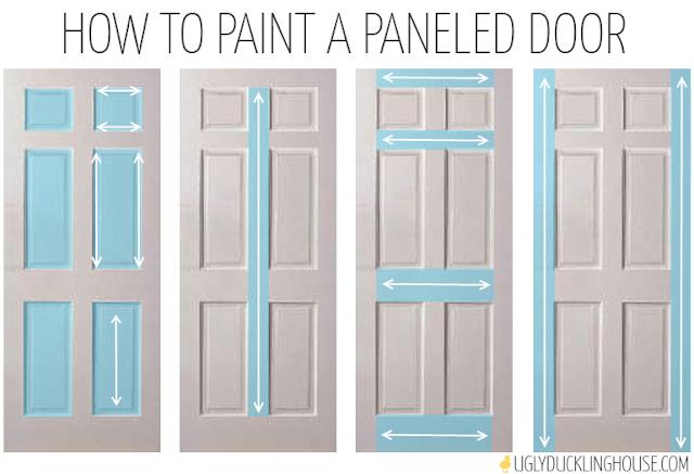 how to paint a six panel door