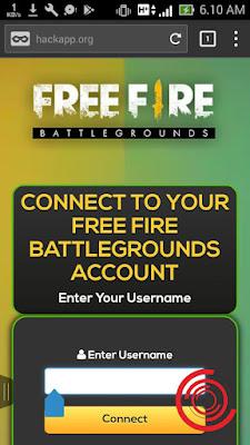 Setelah masuk dihalaman depan webiste ceton live ff, kalian langsung masukan username akun Free Fire kalian. Setelah itu klik Connect