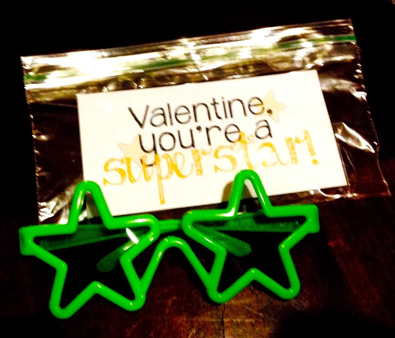 Crafty Teacher Lady February 2013: Superstar Sunglasses Valentine