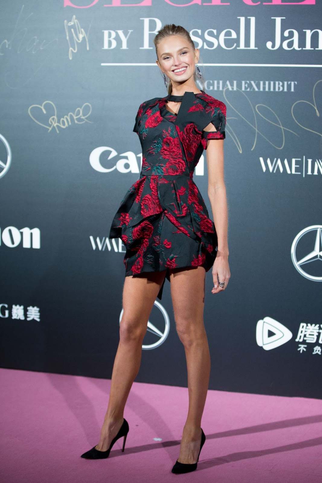 Photos of Romee Strijd at Mercedes-Benz Backstage Secrets in Shanghai